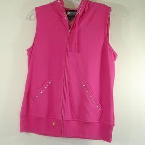 Christine Alexander hooded pink vest